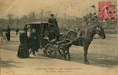 Mme Véron, une des premières femmes à exercer la profession de cocher à Paris. ==> http://www.ville-clichy.fr/actualite/532/19-actualite.htm