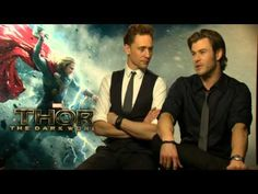 Adorable Chris Hemsworth and Tom Hiddleston Interview. I love how they love each other, so cute :D