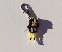 Pittsburgh Steeler Football Player Zipper Pull by SeedBeadTrinkets