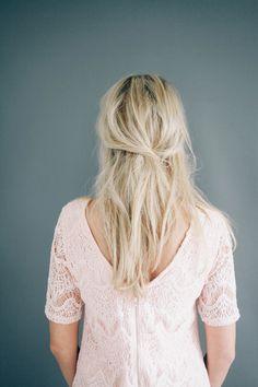 Half Up Hair Tutorial // Treasures Hair Pin — Treasures & Travels