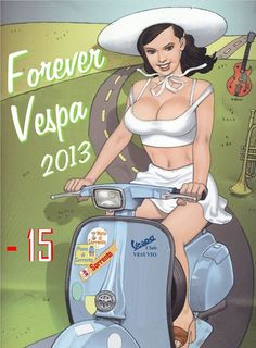 Find information about the world's most iconic scooter brand, Vespa, its latest model lineup, and dealer networks. Since Vespa has been an icon of Italian style loved around the world. Vespa Girl, Scooter Girl, Lambretta Scooter, Vespa Scooters, Comics Vintage, Vintage Posters, Fred, Classic Motors, Ex Machina