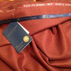 Compagnia dei Colletti. Bespoke shirting in Rome. Holland & Sherry. Sherry Tweed.