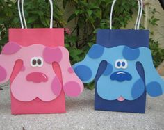 Blues Clues or Magenta Dog Inspired Birthday Party Favor Bag