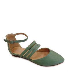 Love this Westwood Footwear Green Julia Flat by Westwood Footwear on #zulily! #zulilyfinds