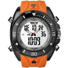 de2c01bb56d97 Relógio Timex Masculino Ironman 42-Lap Dual Tech T5K403WKL TN Laranja  Relógios Masculinos,