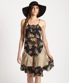 Love this Black Flouncy Slip Dress by Free People on #zulily! #zulilyfinds