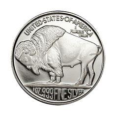 1 oz Ag Buffalo Rounds