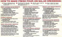 Easy salad dressing