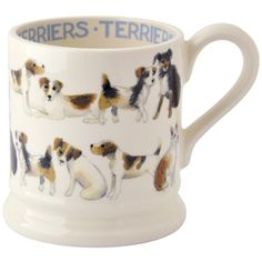The Bee's Knees British Imports - All Over Terrier Pint Mug Boxed - Emma Bridgewater Dog Christmas Presents, Presents For Dog Lovers, Emma Bridgewater Pottery, Puppy Dog Eyes, Half Pint, Cool Mugs, Stoke On Trent, Pottery Mugs, Bees Knees