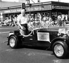 California State Senator Ed Davis in the Youth in Action parade sponsored by the Granada Hills Chamber of Commerce. October 10, 1982. Robert and Betty Franklin Collection. San Fernando Valley History Digital Library.