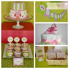 My Party Design !'s Baby Shower / Owl Theme - Photo Gallery at Catch My Party Owl Parties, Owl Birthday Parties, Birthday Ideas, Themed Parties, Baby Shower Parties, Baby Shower Themes, Shower Party, Shower Ideas, Baby Showers