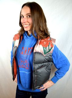 Vintage 1980s 80s Puffy Puffer Applique RARE Iris by RogueRetro