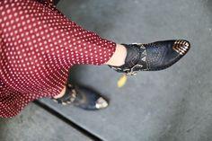 The burgundy dress - Le Blog de Betty