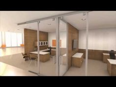 Lightline Movable Interior Walls | Full Height Glass Walls, Glass walls could be used as partition walls allowing light to transfer into rooms. Sand blasted glass or plexiglass walls could be used for privacy