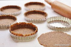Gluten Free Almond Pie Crust (almond meal, egg, oil - try coconut oil)  (veganize by doing flaxseed swap for egg)