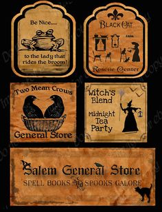 Halloween Labels  Tags