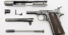 Liked on Pinterest: Colt 1911 a century old design mimicked millions of times.