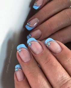 50 beautiful French Tip Nails Art Ideas 2018 - # .- 50 schöne French Tip Nails Art Ideas 2018 – …. 50 beautiful French Tip Nails Art Ideas 2018 – … – living room, – - Ongles Gel French, French Tip Nail Art, French Tip Nail Designs, French Manicure Nails, Manicures, French Art, French Blue, Colored French Nails, Manicure Colors