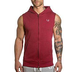 Men's Gym Fitted Sleeveless Zip Hoodie Tapered Sport Body... https://www.amazon.com/dp/B071YH67L1/ref=cm_sw_r_pi_dp_x_UoYbzb0EPY63Q