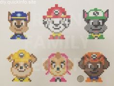 Billedresultat for paw patrol perler beads You are in the right place about Beading christmas Here we offer you the most beautiful pictures about the Beading fashion you are looking for. Bead Embroidery Patterns, Pearler Bead Patterns, Bead Loom Patterns, Perler Patterns, Beading Patterns, Jewelry Patterns, Knitting Patterns, Quilt Patterns, Kids Patterns