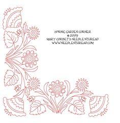 Hand Embroidery Design: Spring Garden Corner