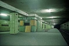 abandoned metro stations beneath the border between former eastern and western berlin