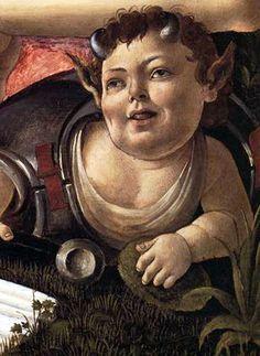Sandro Botticelli, Mars and Venus, 1483 (detail)
