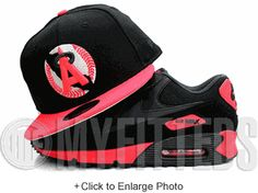 California Angels Jet Black Hot Lava Infrared Gunmetal Steel Grey New Era Fitted Hat UP NOW ON MYFITTEDS.COM