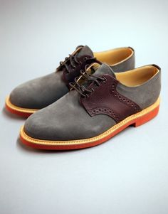 Grey Suede & Lea Saddle Shoe by Mark McNairy