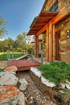 DRY MOAT contemporary - entry - austin - Pearson Landscape Services