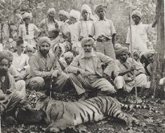 Animals From India | Father and son native tiger hunt, India 1930s.
