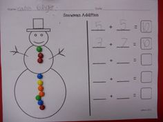 Froggy Friends Fun: Snowman Math