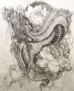 My sketch for tattoo , A dragon design with peony flower and fire background #jessyen #horiyen #mytattoo #alhambra #huntingtonbeach #asianart #tattoosketch #tattoodesign #tattooforlife #orientaltattoo #bodyart #dragon #japanesedragon #Peony #irzumi #dragontattoo #龍 #竜 #彫顏 #刺青 #紋身 thank you for viewing by jessyentattoo https://www.instagram.com/p/BB307XFOeDx/