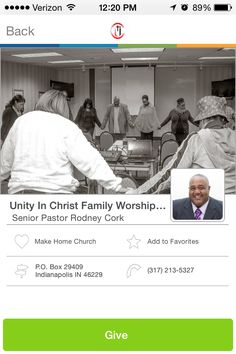 Unity in Christ Family Worship Center in Indianapolis, IN #GivelifyChurches