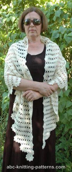 Crochet Patterns Galore - Bruges Lace Shawl