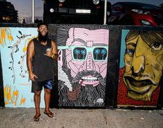 Blackbeard Brett down on the Bondi Beach Seawall as part of the @activatedwalls artshow.  Thanks for you name suggestions and @mseluca for suggesting Brett  he really did feel like a Brett.  An Ode to Blackbeard Brett  Blackbeard Brett had the blackest beard of all In every beard competition he always topped the score  It was so black that in the dark it swallowed any light around Like a christmas beetle to the light to the beard did any light bound  There was one other thing that he was…