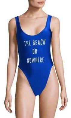 5c3f4e6d9c The Beach or Nowhere One-Piece Swimsuit. Cute SwimsuitsWomen  SwimsuitsSwimwear Cover ...