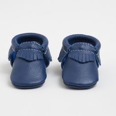 Prince George - Limited Edition Blue Leather Moccasins for Kids | Freshly Picked | Sizes 1-10