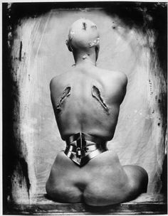"""Woman once a bird"", Joel Peter Witkin  This is one of the ""gentler"" photos of his."