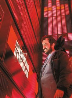 Stanley Kubrick on the set of '2001: A Space Odyssey' (1968)