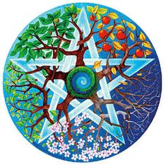 The terms pentagram and pentacle are sometimes used interchangeably. However, it it believed that the most common precise meanings are: The word pentagram comes Pentacle, Tattoos Mandalas, Solstice And Equinox, Summer Solstice, Book Of Shadows, Tree Of Life, Sacred Geometry, Wiccan, Celtic Paganism