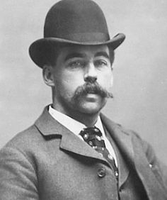 This charming gent is H.H. Holmes, one of the worst serial killers in history