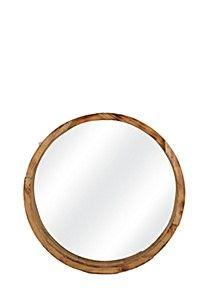 Cascade Mango Wood Round Mirror - Mirrors - Mirrors & Wall Art - S