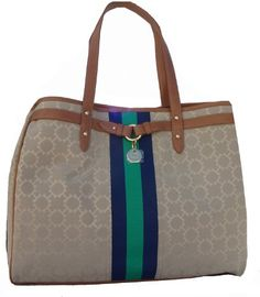 Gotta see this cool Women's Tommy Hilfiger Sizeable Tote Handbag (Beige/Navy/Inexperienced/Brown)