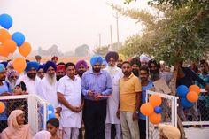 Volleyball ground in Kailpur village inaugurated by MLA Manpreet Singh Ayali yesterday. #AkaliDal #ProgressivePunjab #Sports #VolleyBall