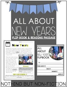 This pack contains a flipbook and reading passage on New Years! Enjoy!