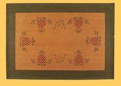 Pineapple floor cloth