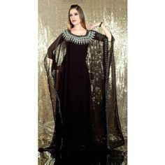 Fashionable Black Designer #Kaftan