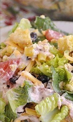 Southwest Cornbread Salad