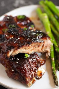 Salty but sweet and covered in a delicious sticky sauce - our Sticky Asian Ribs will be your new BBQ staple. Sticky Ribs Recipe, Ribs Recipe Oven, Pork And Beef Recipe, Rib Recipes, Asian Recipes, Cooking Recipes, Healthy Recipes, Recipies, Thai Recipes